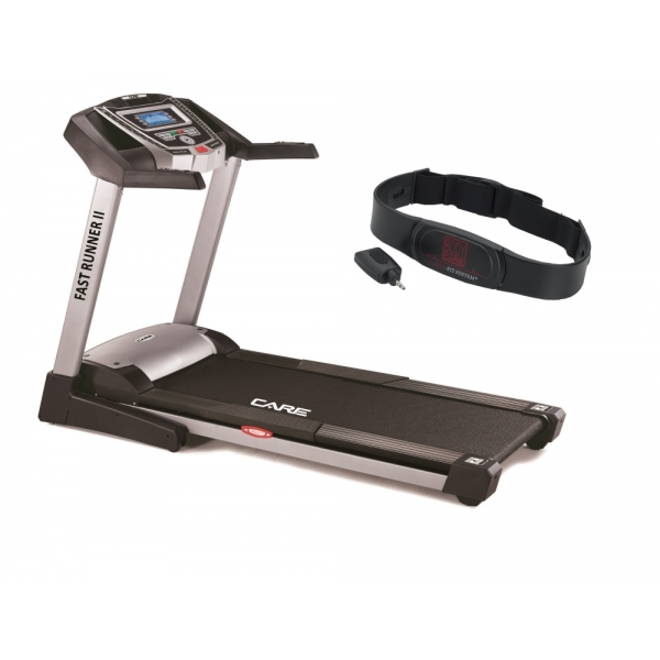 CARE FITNESS  Fast-Runner II HRC con fascia cardio   Tapis roulant