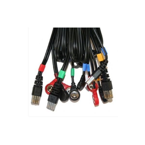 COMPEX  set 4 cavi per elettrostimolatori Compex Mi-Sport 500 - Mi-Fitness Trainer, Theta Pro  Ricambi elettrostimolatori
