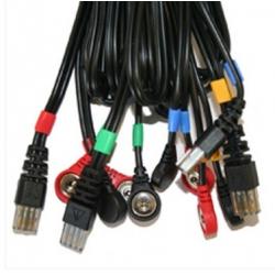 Ricambi elettrostimolatoriCOMPEXset 4 cavi per elettrostimolatori Compex Mi-Sport 500 - Mi-Fitness Trainer, Theta Pro