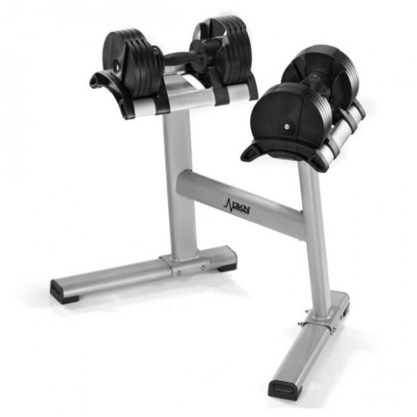 DKN  Coppia di Manubri a peso variabile Dumbbell Twistlock + Stand  EX ESPOSIZIONE  Pesi e Manubri  (invio gratuito)