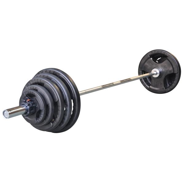 DKN  Olympic Barbell set 130 Kg   pesistica  (invio gratuito)