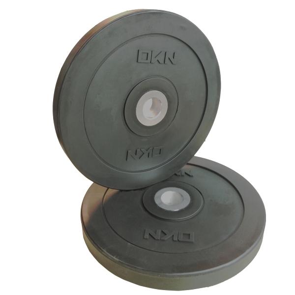DKN  Coppia dischi Olympic Bumper Plate 5 Kg  Pesi e Manubri