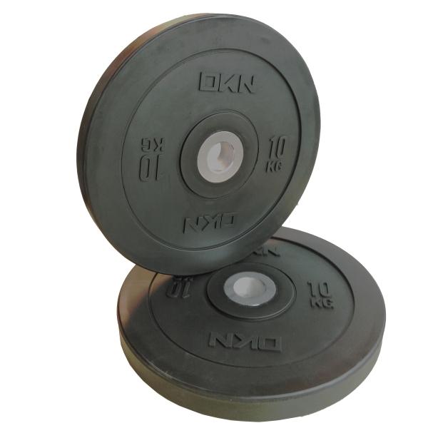 DKN  Coppia Dischi Olympic Bumper Plate 10 Kg  Pesi e Manubri