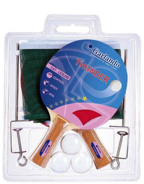 GARLANDO  Set Thunder Plus  Accessori Ping Pong  Tavoli da Ping Pong