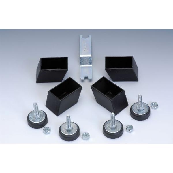 GARLANDO  Serie 4 piedini regolabili per Foldy, G-2000 e Maracanà  Calcio balilla accessori