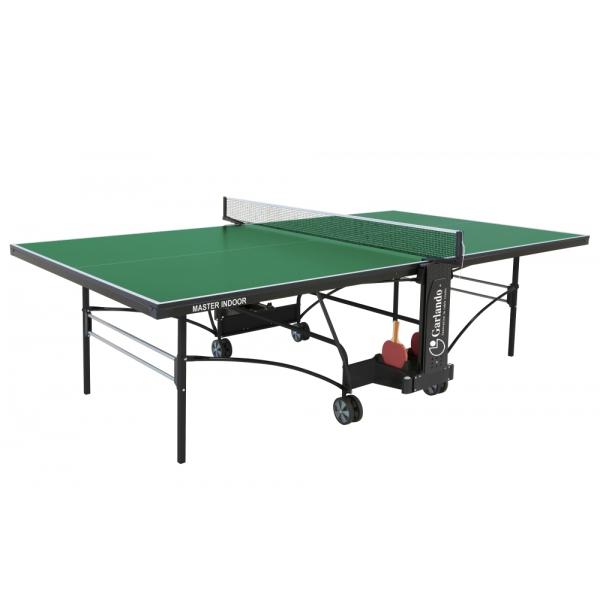 GARLANDO  Master Indoor verde con ruote  Tavolo da ping pong  (invio gratuito)
