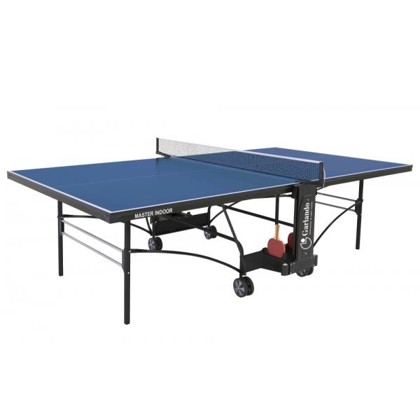 GARLANDO  Master Indoor blu con ruote  Tavolo da ping pong  (invio gratuito)