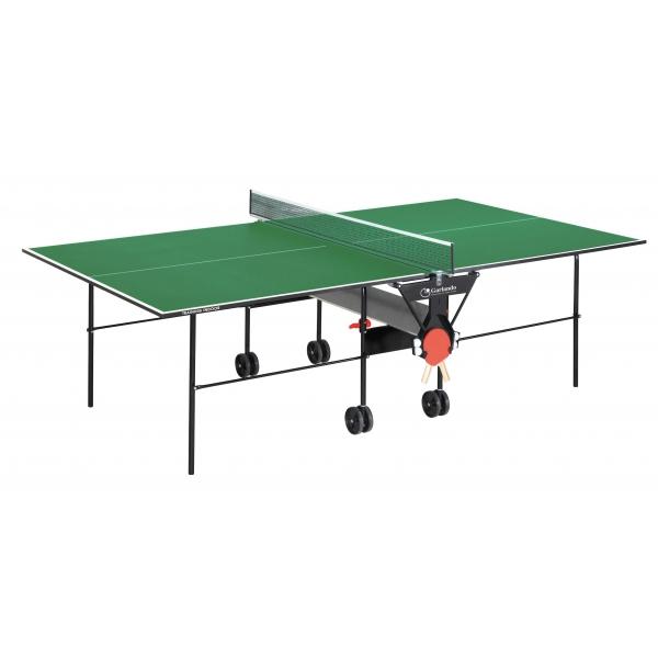 GARLANDO  Training Indoor Verde con ruote  Tavolo da ping pong  (invio gratuito)