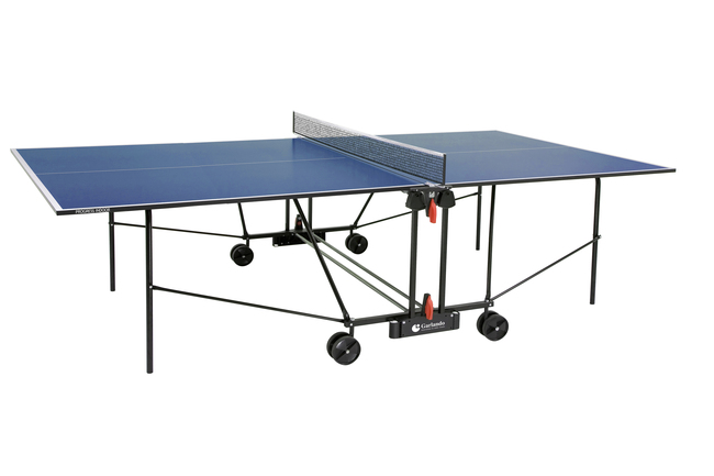 GARLANDO  Progress Indoor Blu con ruote  Tavolo da ping pong  (invio gratuito)