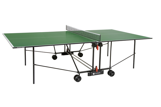 Tavolo Da Ping Pong Garlando Progress Indoor Verde Con Ruote