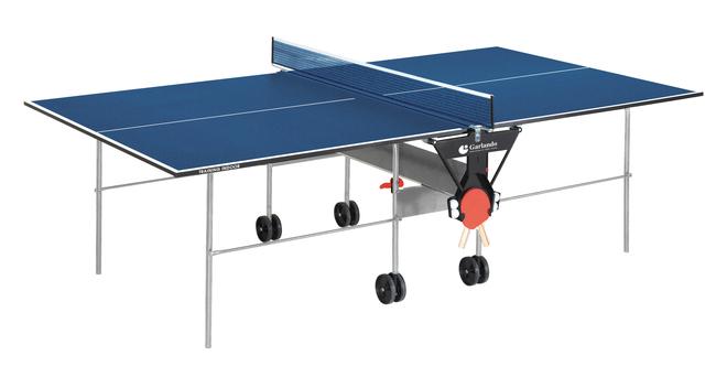 GARLANDO  Training Indoor Blu con ruote  Tavolo da ping pong  (invio gratuito)