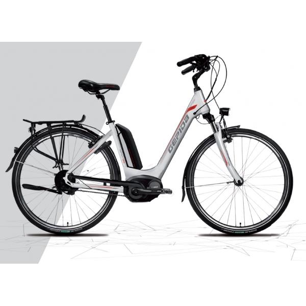 Gepida Bicicletta Elettrica Reptila 900 City, Ruote 26 Modello 2017