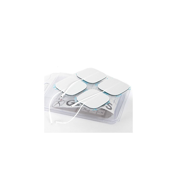 GLOBUS  4 Elettrodi Myotrode Platinum 50x50 mm a cavetto  Elettrodi