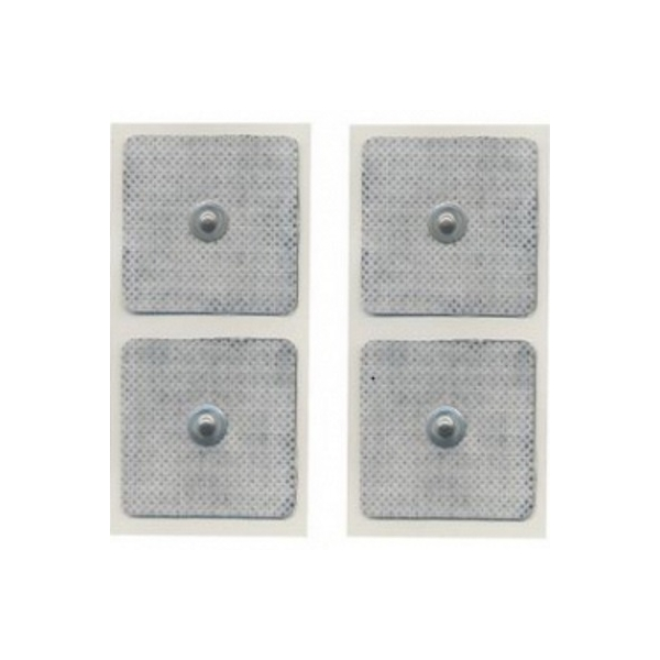 GLOBUS  4 Elettrodi quadrati 50 x 50 mm a bottone  Elettrodi