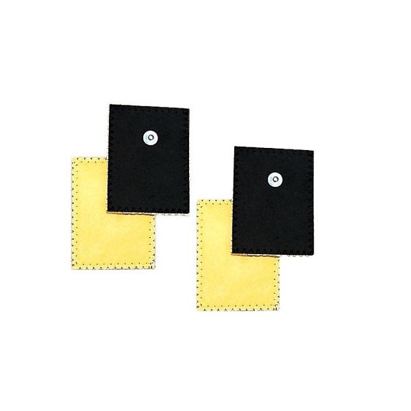 GLOBUS  4 Elettrodi in daino per ionoforesi 80 x 120 mm   Elettrodi