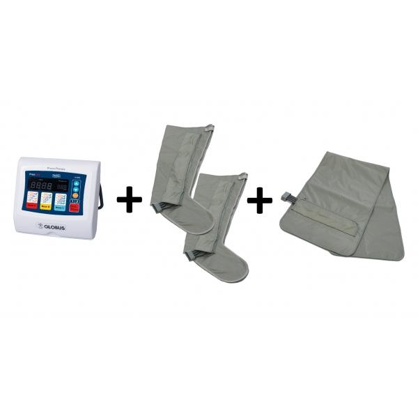 GLOBUS  PressCare G300-3 con 2 gambali e fascia addominale IN PROMOZIONE  Pressoterapia