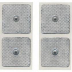 ElettrodiGLOBUSBlister 4 Elettrodi quadrati 50 x 50 mm a bottone