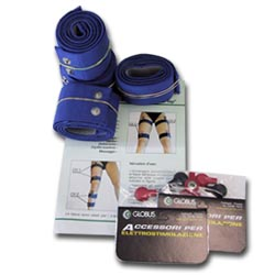 GLOBUS  Kit 8 fasce elastiche conduttive per cosce e gambe  Accessori Elettrostimolatori