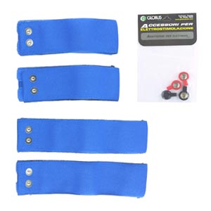 GLOBUS  Kit 4 fasce elastiche conduttive per cosce  Accessori Elettrostimolatori
