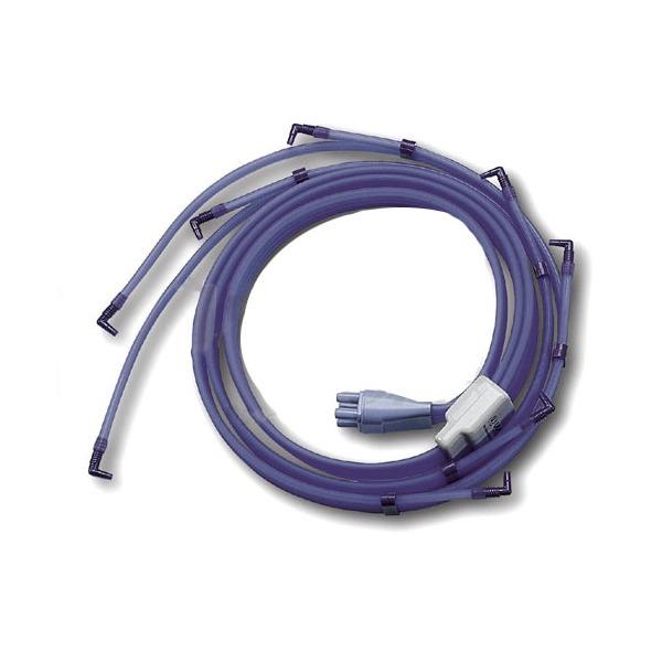 I-TECH  Connettore a 4 tubi con 8 terminazioni per gambali e bracciali   Accessori Pressoterapia