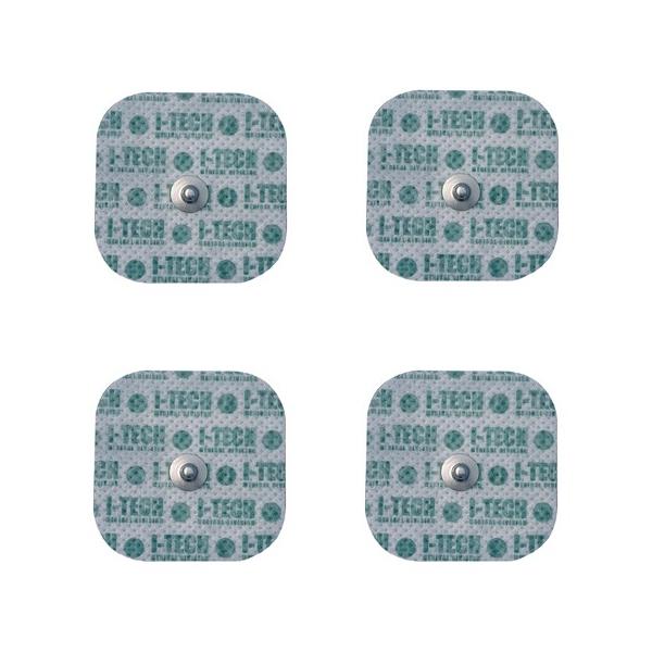 I-TECH  4 Elettrodi 48 x 48 mm attacco a bottone  Elettrodi