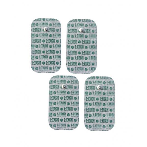 I-TECH  4 Elettrodi 50 x 90 mm a bottone  Elettrodi