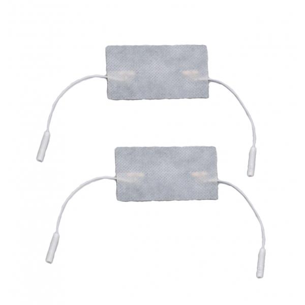 I-TECH  2 Elettrodi 50x100 mm a doppio attacco a cavetto  Elettrodi