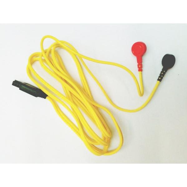 I-TECH  Cavo attacco a bottone giallo per T-One  Ricambi elettrostimolatori