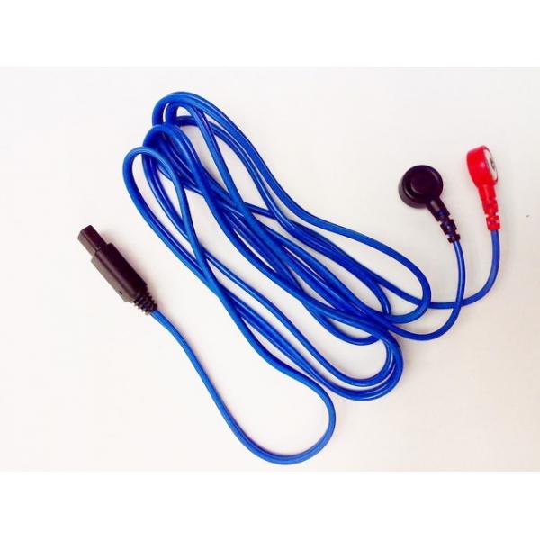 I-TECH  Cavo attacco a bottone blu per T-One  Ricambi elettrostimolatori