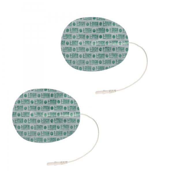 I-TECH  2 Elettrodi ovali 130 x 76 mm a cavetto  Elettrodi