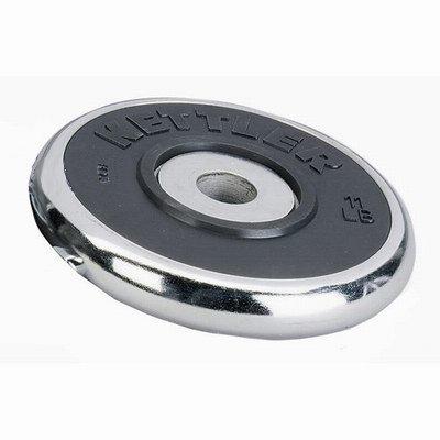 KETTLER  Disco Cromato Gomma 10 Kg - 30 mm diam.   Pesi e Manubri