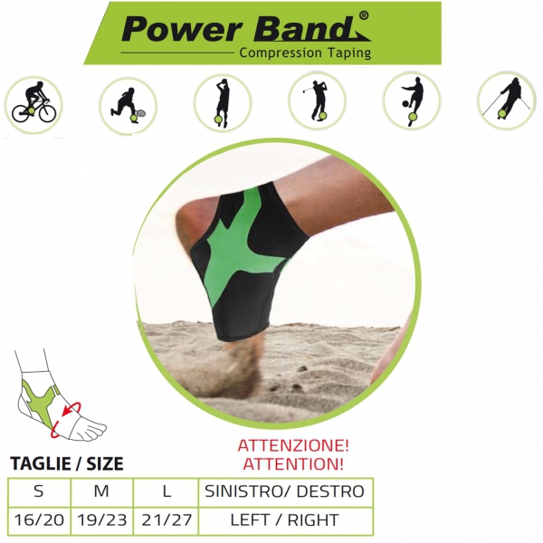 Orione Cavigliera Con Power Band Taping Integrato Ref. 489