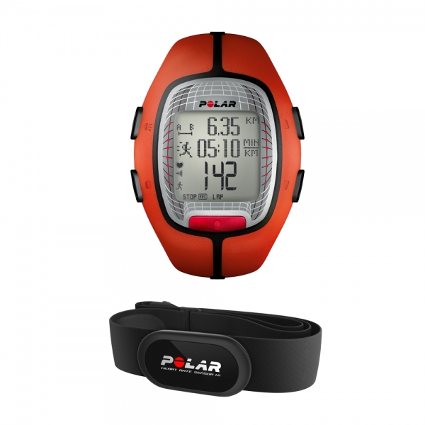 POLAR  RS300X orange con fascia cardio   Cardiofrequenzimetro