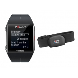 CardiofrequenzimetriPOLARV800 Nero con GPS e sensore HR