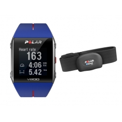 CardiofrequenzimetriPOLARV800 Blu con GPS e sensore HR