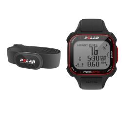 CardiofrequenzimetriPOLARRC3 GPS nero con fascia cardio