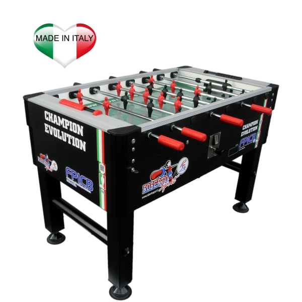 ROBERTO SPORT  Champion Evolution Nero FPICB  Calcio balilla da interno