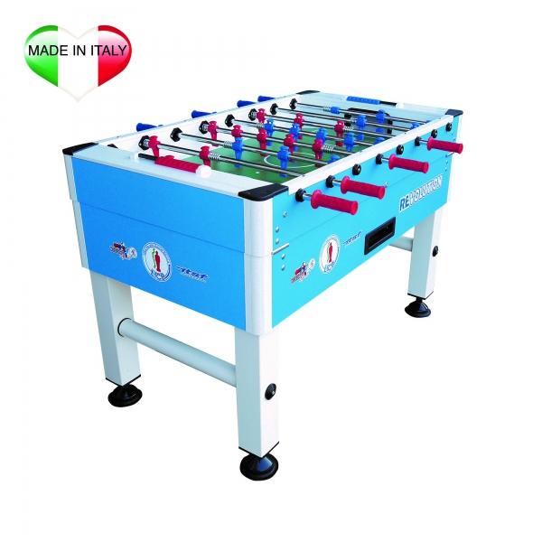 ROBERTO SPORT  Professional Revolution Azzurro con aste rientranti  Calcio balilla da interno