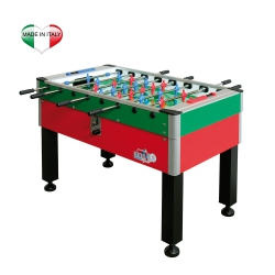 Calcio balilla da internoROBERTO SPORTNew Camp gambe ferro Rosso-Blu / Blu-Verde