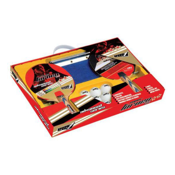 Set Ping Pong Sport1 Super Torneo 2 Racchette + 6 Palline + Rete + Te