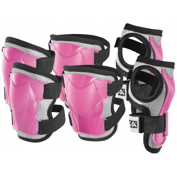 Stiga Set Di Protezioni Imbottite Junior Colore Rosa