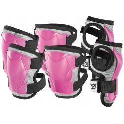 Caschi e protezioniSTIGASet di protezioni JUNIOR colore rosa