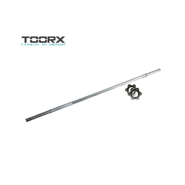 TOORX  BCV-215 Bilanciere cromato 215 cm chiusura a vite  pesistica