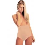 Modello body coulotte, colore nude